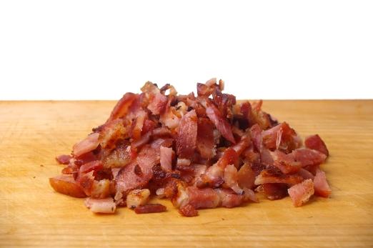 Bacon on Wood Board